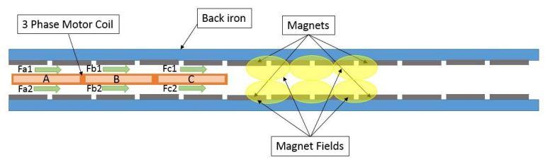 Linear Ironless Motor