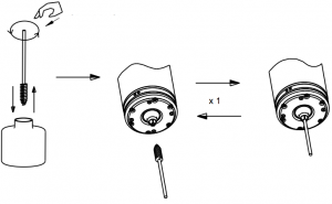 Clean Collet with Alcohol