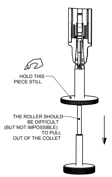 Roller Pulling out of Collet