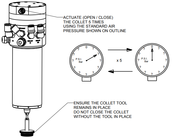 Actuatue Collet Using Pressure Drawing