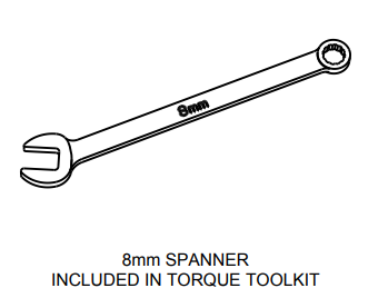 Spanner tool drawing