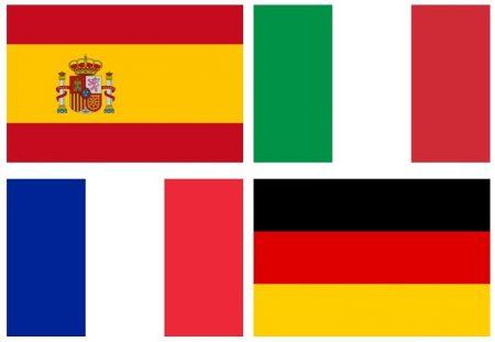 Italian and Spanish