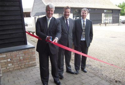 Andrew Lansley opens new production plant